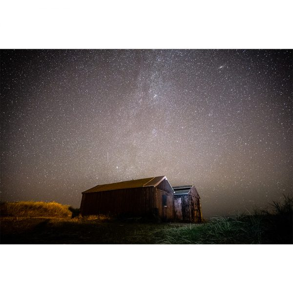 Winterton Beach Huts Night Sky Norfolk Coast