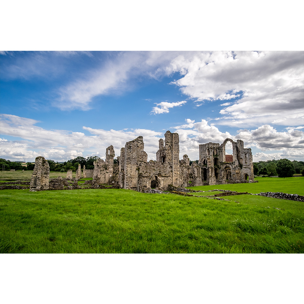 Castle Acre Ruins At Summer 16x12 Print