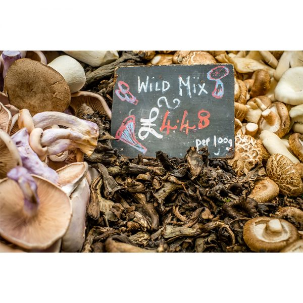 Borough Market London Fungi Market Stall Display 16x12 Print