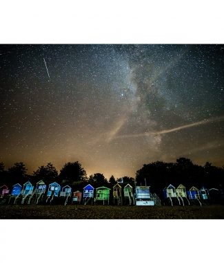 Wells Next The Sea Beach Huts Night Sky Milky Way Canvas 20mm Frame