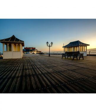 Cromer Pier At Sunrise Greetings Card