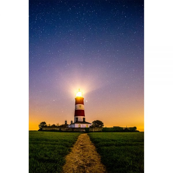Happisburgh Lighthouse Misty Night Sky