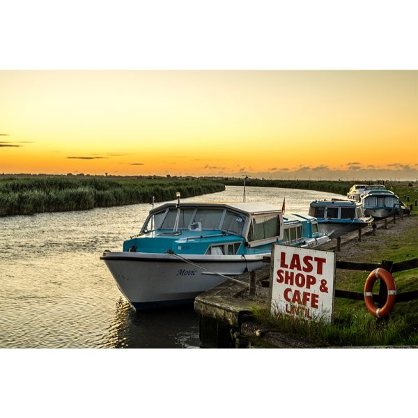 River Bure Rest Stop Sunset Acrylic Prism