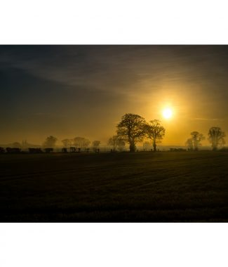 Watton Misty Sunrise Norfolk 16x12 Print