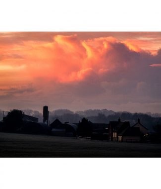 Lower Stow Bedon Winter Sunrise  Canvas 38mm Frame
