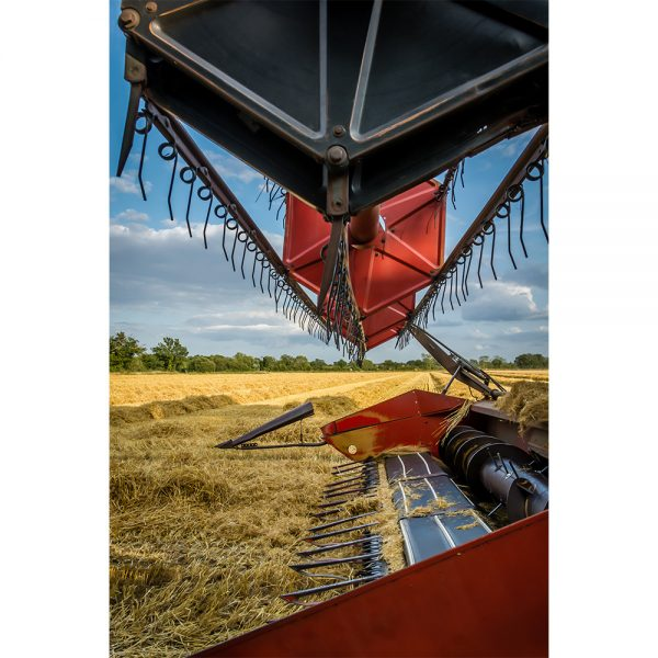 Looking Through Massey Ferguson 865 Combine Harvester Greetings Card