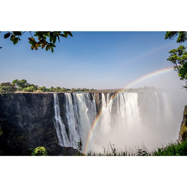Double Rainbow Over Victoria Falls  Acrylic Prism